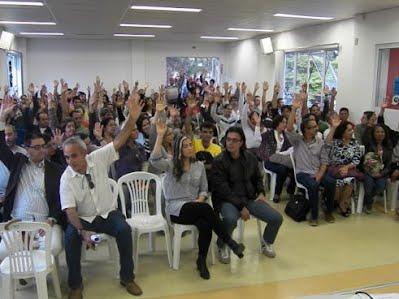 Assembleia da Apes JF em 04 de setembro de 2012 - Momento de aprovação dos encaminhamentos